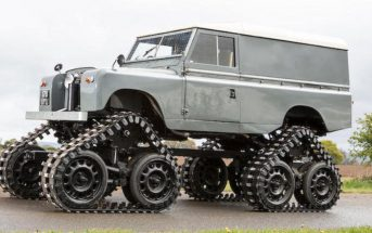 Cuthbertson Land Rover - gąsienicowy Land Rover