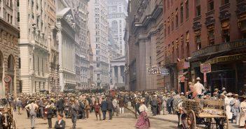 Broad Street - Nowy Jork - początek XX wieku - zdjęcie