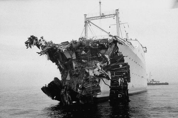 Uszkodzony Stockholm po zderzeniu z Andrea Dorią