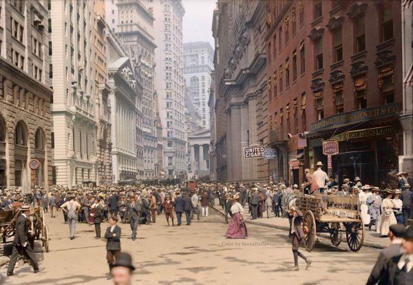 Bread Street, Nowy Jork (1900-1910) (fot. Sanna Dullaway)