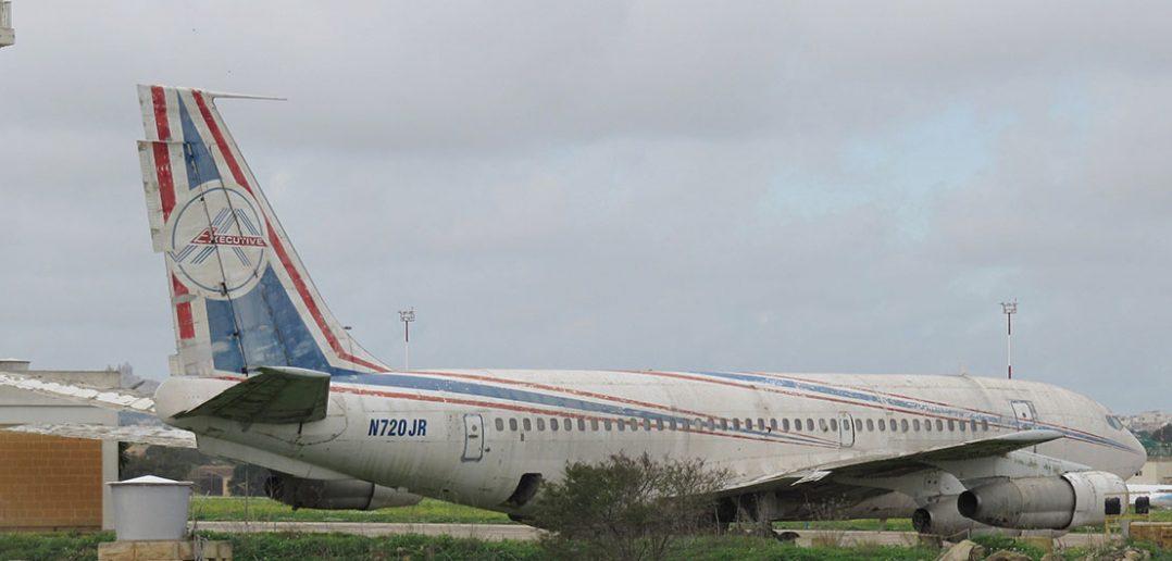 Zapomniany Boeing 720 N720JR na Malcie