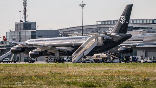 A340 Hi Fly Malta w Poznaniu - 29.07.2017 r. (fot. Albert Jabłoński/EPKS Spotters)