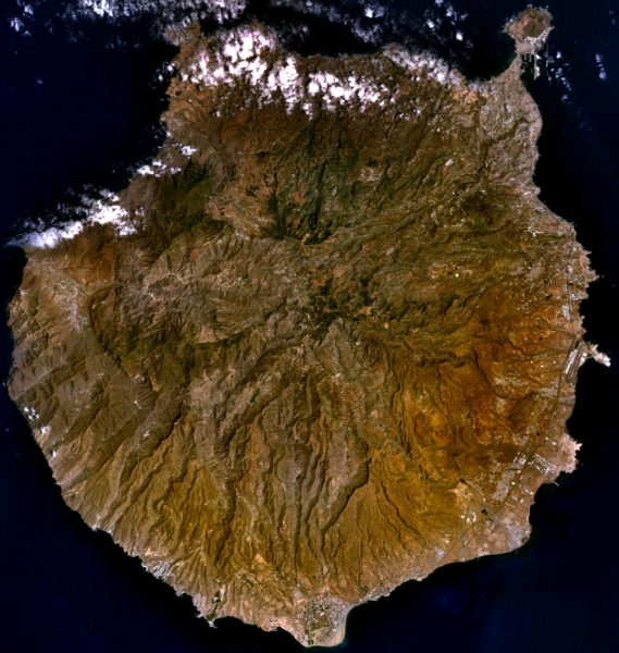 Zdjęcie satelitarne Gran Canarii