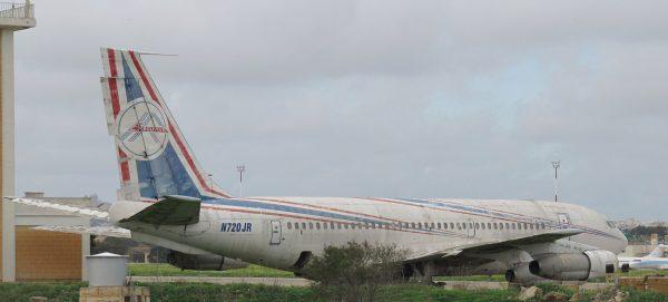 Boeing 720-047B N720JR na Malcie (fot. kitmasterbloke/Flickr.com)
