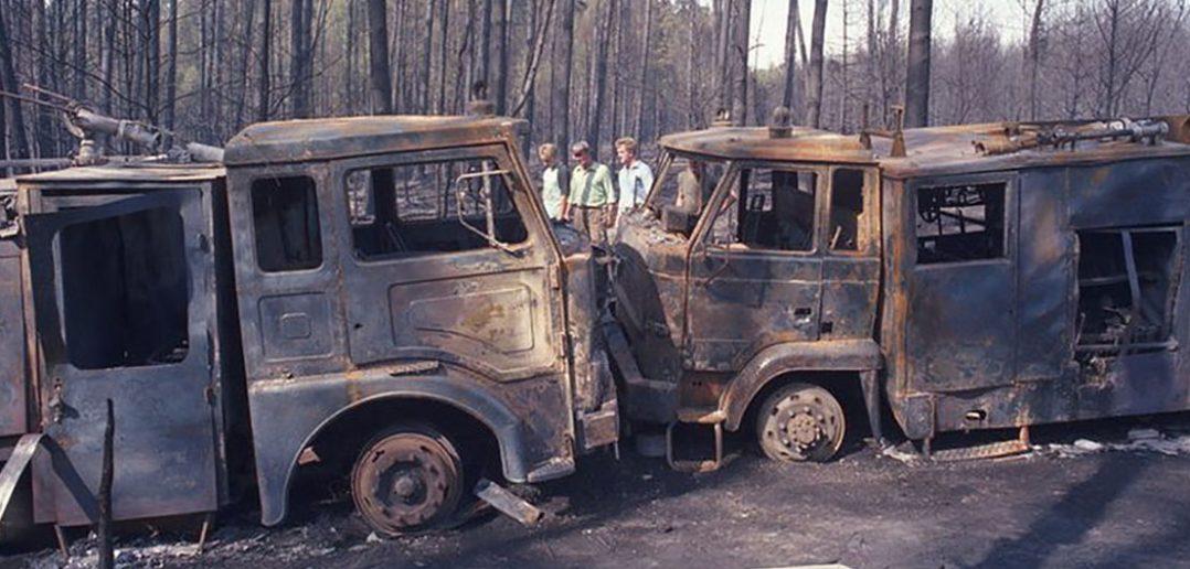 Pożar lasu koło Kuźni Raciborskiej (1992)