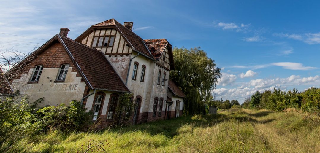 Opuszczona stacja kolejowa w Chrzypsku Wielkim
