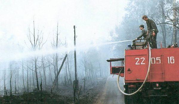 Pożar lasu koło Kuźni Raciborskiej