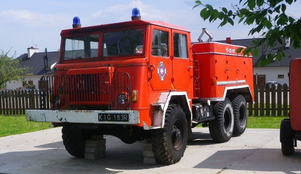 Star 660 przebudowany na wóz strażacki (fot. Michał Derela)