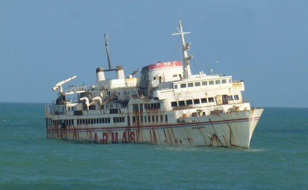 Wrak MV Assalama (fot. Dacorounb)
