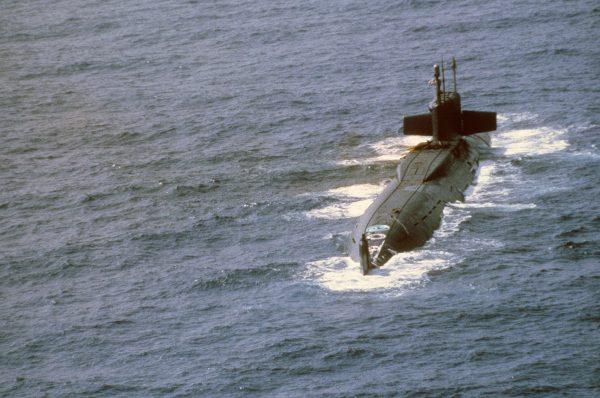 K-219 już po eksplozji w wyrzutni