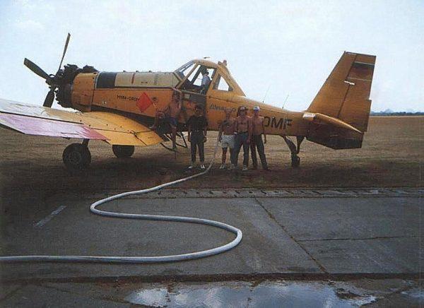 Dromadery wykorzystywane podczas gaszenia pożaru w lesie koło Kuźni Raciborskiej (fot. Sekcja Spadochronowa Aeroklubu Gliwickiego)
