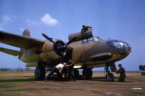Bombowiec Douglas A-20C-BO Havoc w Langley Field w 1942 roku (fot. Alfred Palmer)