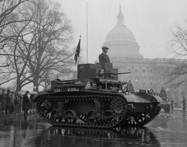 M2A3 Light Tank w Waszyngtonie w 1939 roku