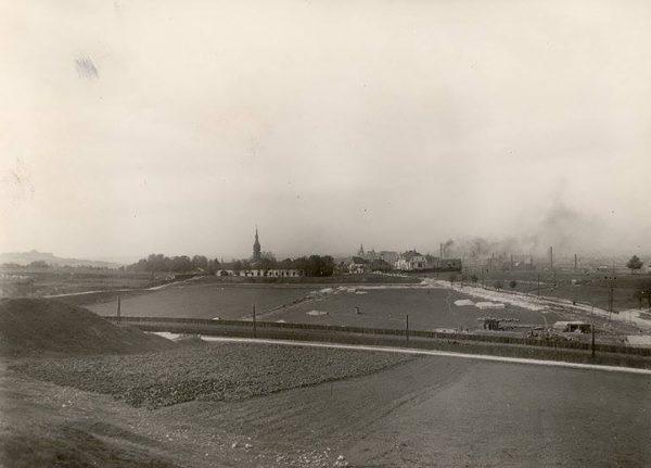 Widok na Podgórze z Kopca Krakusa, około 1928 r. (fot. fotopolska.eu)