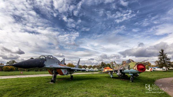 MiG-29GT (UB) i Su-22M4 (fot. Michał Banach)