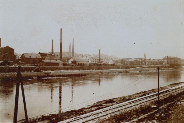 Widok na przemysłowe Podgórze, lata 1900-1920 (fot. fotopolska.eu)