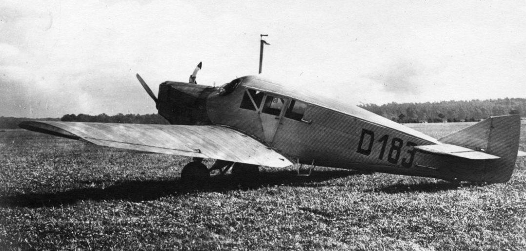 Junkers F.13 - pierwszy całkowicie metalowy samolot pasażerski