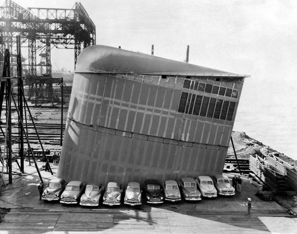 Jeden z kominów SS United States