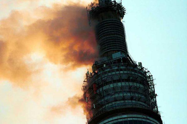 Pożar wieży telewizyjnej Ostankino w 2000 roku