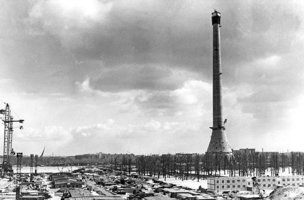 Wieża telewizyjna Ostankino w 1963 roku