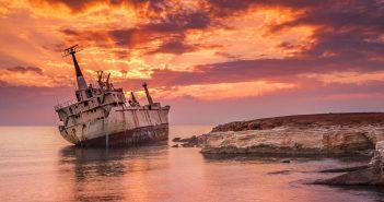 Wrak frachtowca Edro III u wybrzeży Cypru
