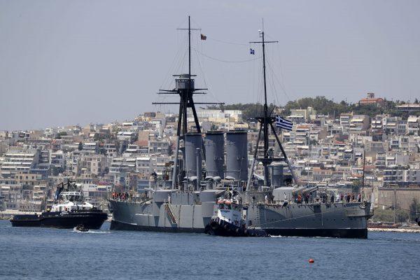Krążownik Georgios Averof (fot. Thanassis Stavrakis)