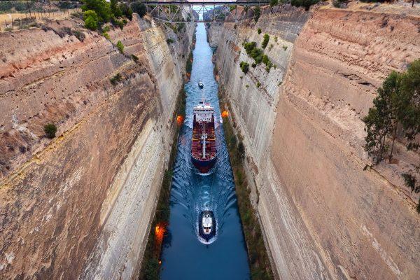 Kanał Koryncki (fot. cruiseclubuk.com)