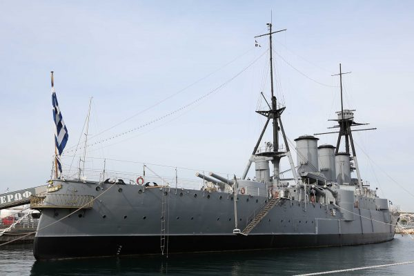 Krążownik Georgios Averof (fot. modelships.de)