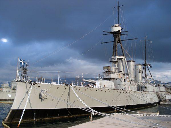 Krążownik Georgios Averof (fot. Wikimedia Commons)