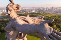 Matka Ojczyzna Wzywa! - olbrzymi pomnik w Wołgogradzie