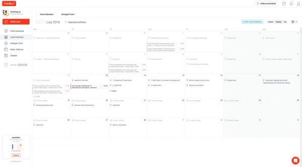 Wszystkie zaplanowane i już opublikowane treści widać w kalendarzu