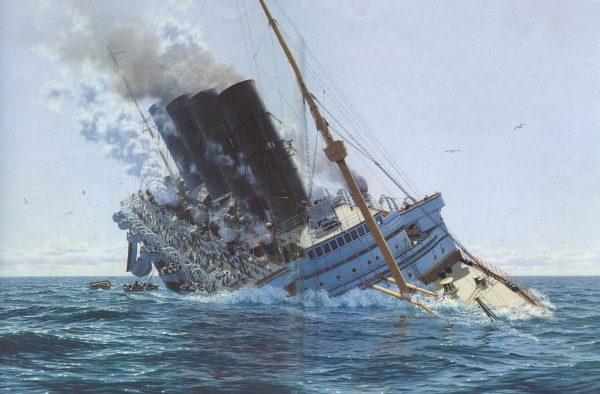 Tonący liniowiec RMS Lusitania