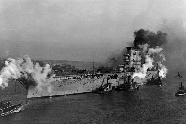 USS Lexington w styczniu 1928 roku