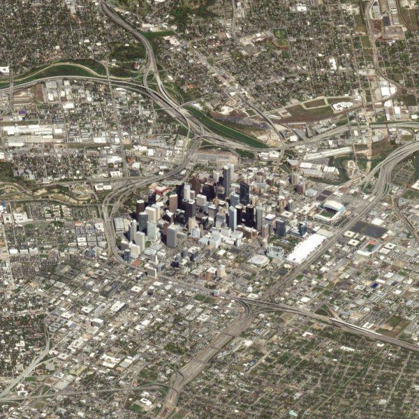 Houston, Teksas, USA - 14 marca 2018 roku (fot. Planet Labs)