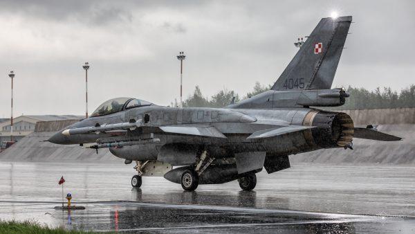 Lockheed Martin F-16C Jastrząb (4045) (fot. Michał Banach)