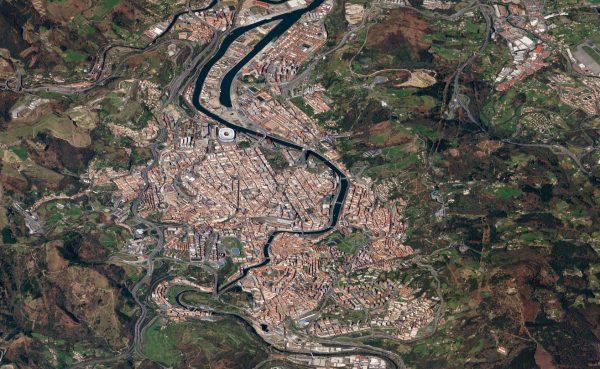 Bilbao, Hiszpania - 13 marca 2018 roku (fot. Planet Labs)