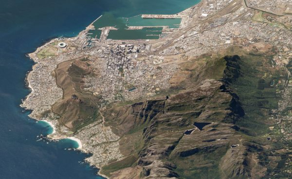 Góra Stołowa, Cape Town, RPA - 19 marca 2018 roku (fot. Planet Labs)