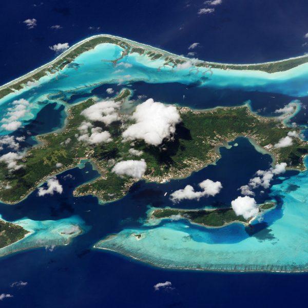 Bora Bora, Polinezja Francuska - 9 marca 2018 roku (fot. Planet Labs)