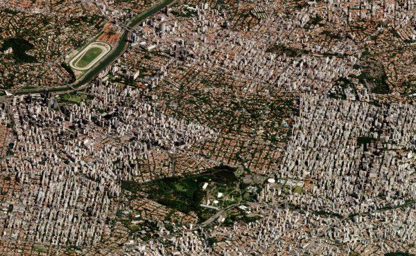 Sao Paulo, Brazylia - 12 marca 2018 roku (fot. Planet Labs)