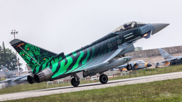 "Eurofighter Typhoon ""Ghost Tiger"" (fot. Michał Banach)"