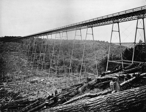 Oryginalny, pierwszy Most Kinzua