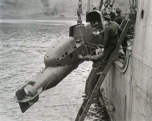 Brytyjska torpeda Chariot, wzorowana na SLC