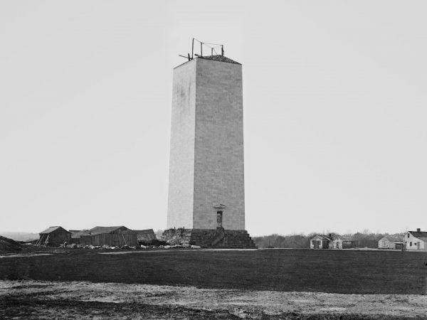 Washington Monument podczas budowy