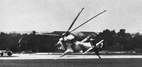 Sikorsky S-67 Blackhawk tuż przed katastrofą 1 września 1974 roku