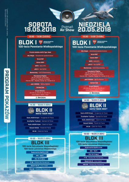 Program Poznań Air Show 2018