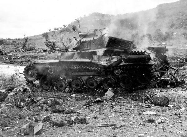 Zniszczony Typ 97 Chi-Ha