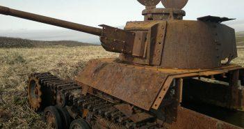Wraki japońskich czołgów na wyspie Szumszu
