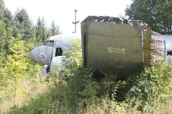 Wrak C-47 na terenie bazy Željava (fot. Jerry Gunner)
