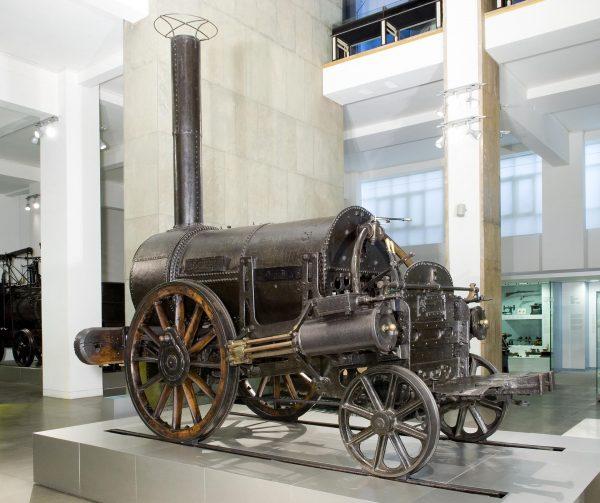 Parowóz Rocket współcześnie w Sciene Museum w Londynie (fot. aboutmanchester.co.uk)