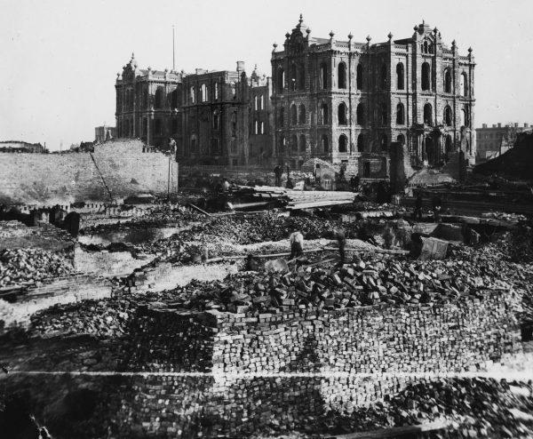 Ruiny Chicago po pożarze z 1871 roku